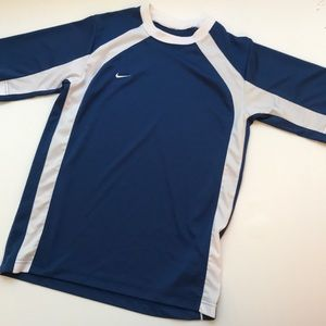 Boys Nike Blue And White SS Top Sz L